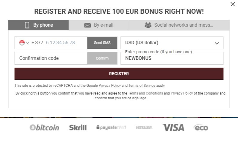 888starz registration code