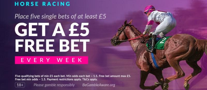 vbet horse racing free bet
