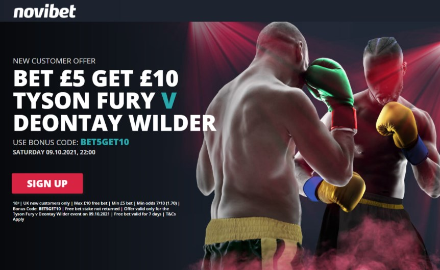 novibet fury wilder free bet