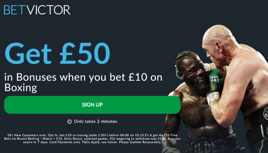 betvictor fury wilder free bets