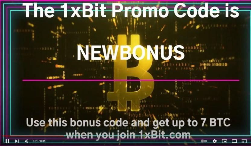 1xbit promo code NEWBONUS
