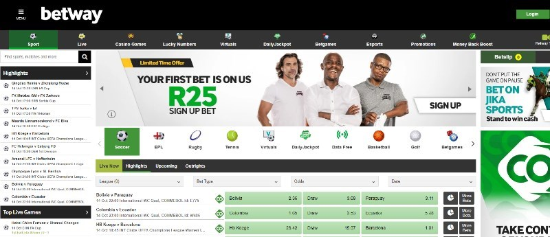 Betway South Africa sign up code